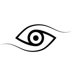 Logo eye calligraphic lines elegant eye vector