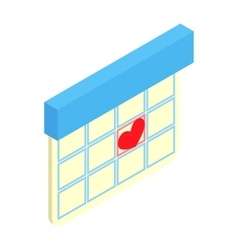 Love date isometric 3d icon vector image
