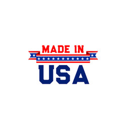 Made in usa icon vector