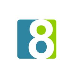 modern logo number 8 vector image