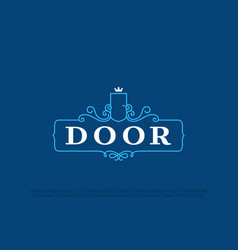 modern professional logo door in blue theme vector image