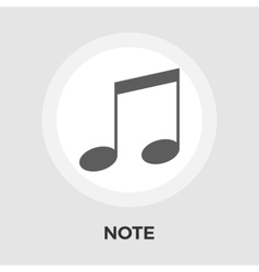 note flat icon vector image