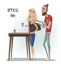 office people man and woman vector image