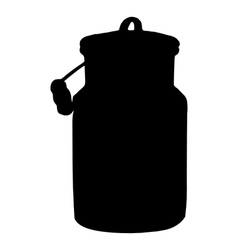 Old milk can vector image