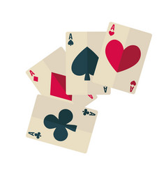 playing cards dark spade and club ruddy diamond vector image vector image