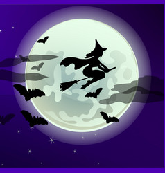 Poster on theme of halloween holiday party vector