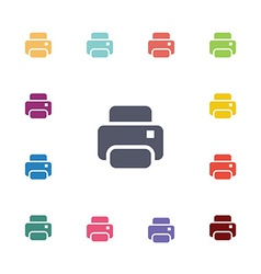 printer flat icons set vector image