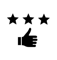 rating glyph icon vector image