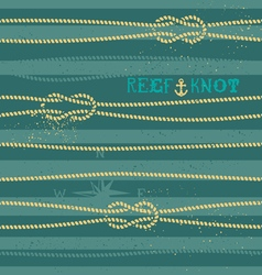 reef knot pattern vector image