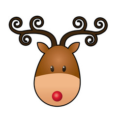 Reindeer face manger animal cartoon image vector