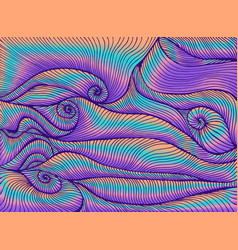 Retro hippie style bright abstract psychedelic vector