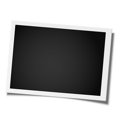retro realistic photo frame placed on white vector image