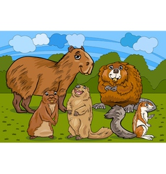 rodents animals cartoon vector image