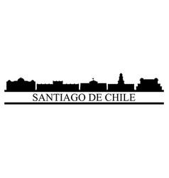 Santiago del chile skyline vector