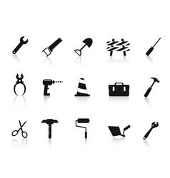 set black construction hand tool icon vector image