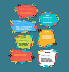 Set of creative quote bubble template quote vector