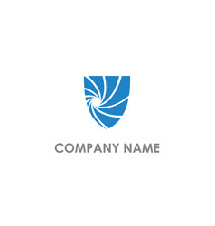 Shield protection abstract company logo vector