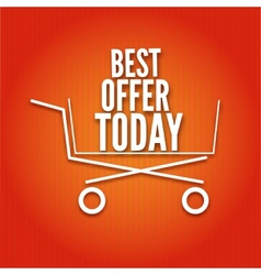 Shopping cart on a bright background vector image