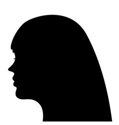 silhouette of a woman head on a white background vector image