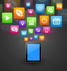 smart phone tablet vector image