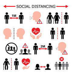 Social distancing during pandemic or epidemic vect vector
