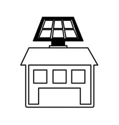 Solar energy alternative icon vector