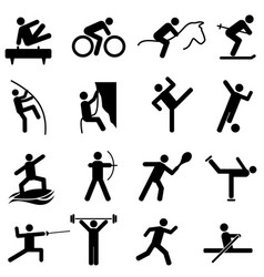 Sports and athletics icons vector