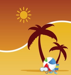 summer stuff color vector image