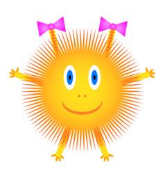 sun icon on white vector image