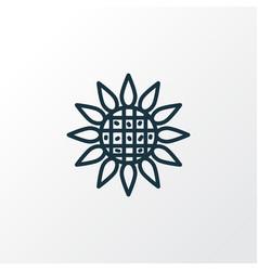 sunflower icon line symbol premium quality vector image