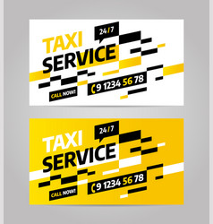 Taxi business or visiting card vector