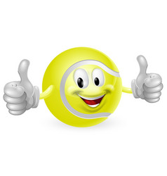 tennis ball mascot vector image