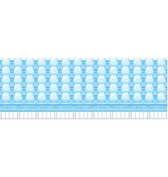 tribunes with metal fence vector image