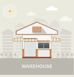 warehouse transportation in flat style vector image