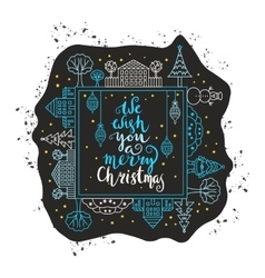 We wish you a merry Christmas vector image