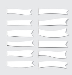 White ribbons vector