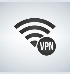 Wifi connection signal icon with vpn sign in the vector
