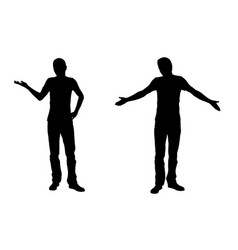 wondering men silhouettes vector image