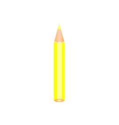 Yellow color wooden pencil vector