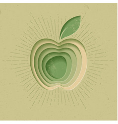 apple logo icon poster modern styled vector image vector image