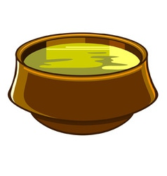 bowl of soup vector image vector image