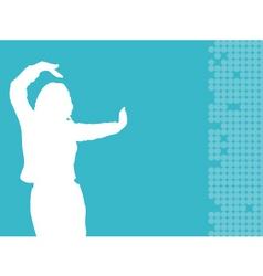 female dancing vector image vector image