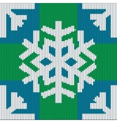Knitting in winter style Snowflake vector image