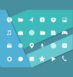 Modern smartphone icons set different web icons vector