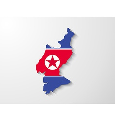 North Korea country map with shadow effect vector image