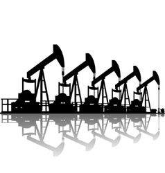 Oil pumps vector image vector image