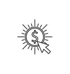 pay per click line icon vector image vector image