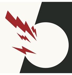 red arrows breaking wall vector image vector image