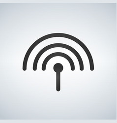 antenna icon isolated on white background vector image