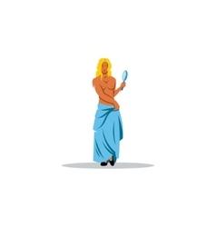 Aphrodite sign Mythological Greek Goddess of vector image vector image